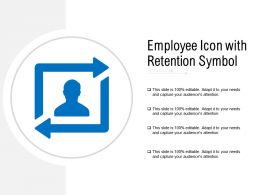 Employee Icon With Retention Symbol