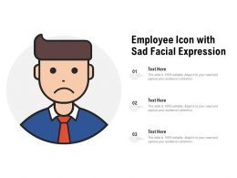 Employee Icon With Sad Facial Expression