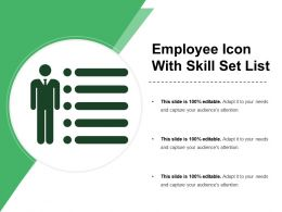 Employee Icon With Skill Set List