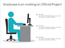 Employee Icon Working On Official Project