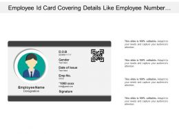 Employee Id Card Covering Details Like Employee Number Date Of Issue And Id Etc