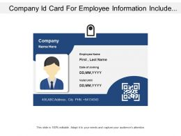 Employee Id Card With Bar Code And Personnel Details
