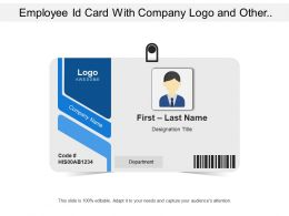 Employee Id Card With Company Logo And Other Related Details