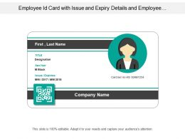 Employee Id Card With Issue And Expiry Details And Employee Informations