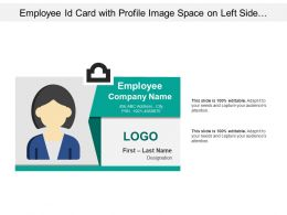 Employee Id Card With Profile Image Space On Left Side And Details On Right Side