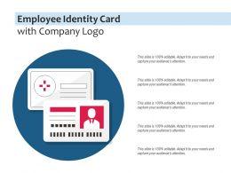 Employee Identity Card With Company Logo