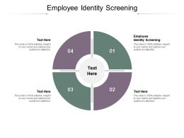 Employee Identity Screening Ppt Powerpoint Presentation Pictures Grid Cpb