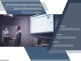 Employee Image Presenting Sales Achievements To Various Leaders