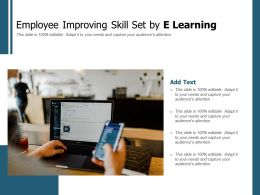 Employee Improving Skill Set By E Learning