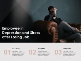 Employee In Depression And Stress After Losing Job