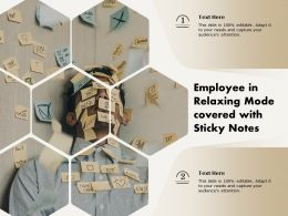 Employee In Relaxing Mode Covered With Sticky Notes