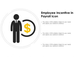 Employee Incentive In Payroll Icon