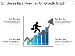 Employee Incentive Man On Growth Graph