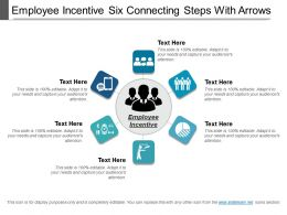 Employee Incentive Six Connecting Steps With Arrows