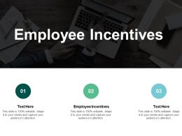 Employee Incentives Ppt Powerpoint Presentation Slides Mockup Cpb