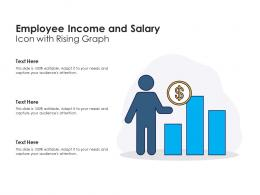 Employee Income And Salary Icon With Rising Graph