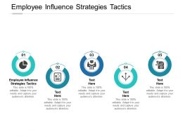Employee Influence Strategies Tactics Ppt Powerpoint Presentation Ideas Show Cpb