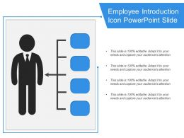 Employee Introduction Icon Powerpoint Slide
