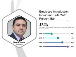 Employee Introduction Individual Skills With Percent Bar