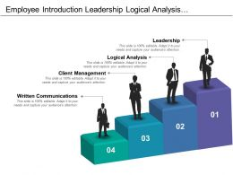 Employee Introduction Leadership Logical Analysis Client Management