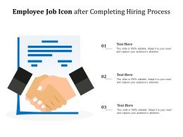 Employee Job Icon After Completing Hiring Process