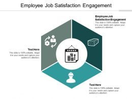 Employee Job Satisfaction Engagement Ppt Powerpoint Presentation Styles Themes Cpb