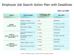 Employee Job Search Action Plan With Deadlines