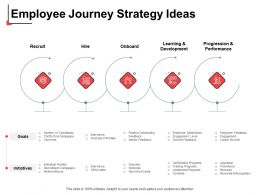 Employee Journey Strategy Ideas Hire Ppt Powerpoint Presentation Show Icons