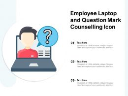 Employee Laptop And Question Mark