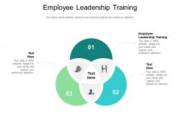 Employee Leadership Training Ppt Powerpoint Presentation Infographics Guidelines Cpb