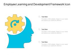 Employee Learning And Development Framework Icon