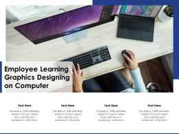 Employee Learning Graphics Designing On Computer