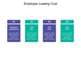Employee Leasing Cost Ppt Powerpoint Presentation Pictures Shapes Cpb