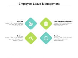 Employee Leave Management Ppt Powerpoint Presentation File Skills Cpb