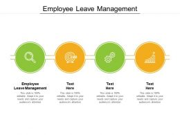 Employee Leave Management Ppt Powerpoint Presentation Portfolio Aids Cpb