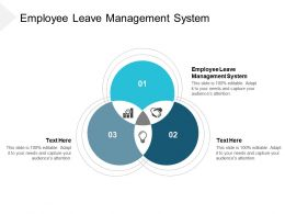 Employee Leave Management System Ppt Powerpoint Presentation Portfolio Example Topics Cpb