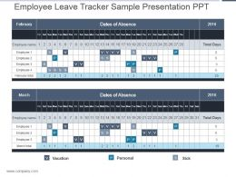 Employee Leave Tracker Sample Presentation Ppt