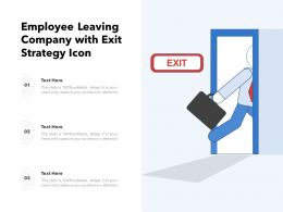 Employee Leaving Company With Exit Strategy Icon