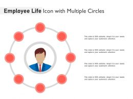 Employee Life Icon With Multiple Circles