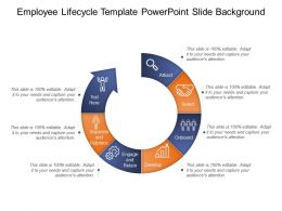 Employee Lifecycle Template Powerpoint Slide Background