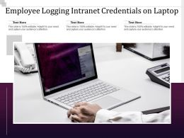 Employee Logging Intranet Credentials On Laptop
