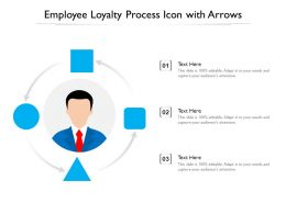 Employee Loyalty Process Icon With Arrows