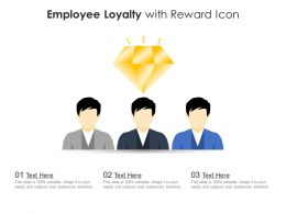 Employee Loyalty With Reward Icon