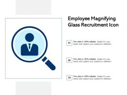 Employee Magnifying Glass Recruitment Icon