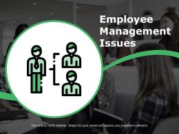 Employee Management Issues Powerpoint Slide Background