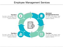 Employee Management Services Ppt Powerpoint Presentation Gallery Icon Cpb