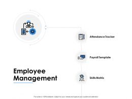 Employee Management Skills Matrix Ppt Powerpoint Presentation Pictures Topics