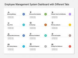 Employee Management System Dashboard With Different Tabs