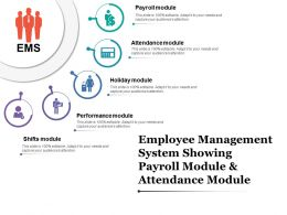 Employee Management System Showing Payroll Module And Attendance Module