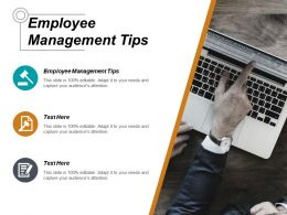 Employee Management Tips Ppt Powerpoint Presentation Icon Graphics Cpb